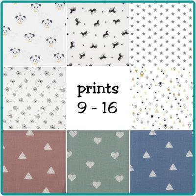 Diverse prints 9 - 16