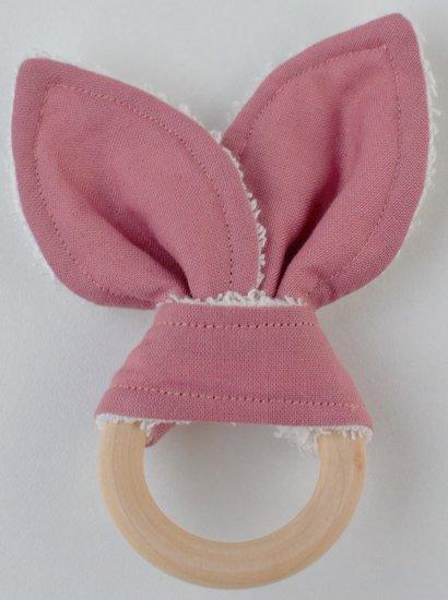 Bijtring met konijnenoren blush