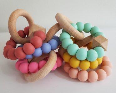 Bijtring uni (diverse kleuren op voorraad)