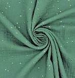 Hydrofiel sapphire green met gouden studs